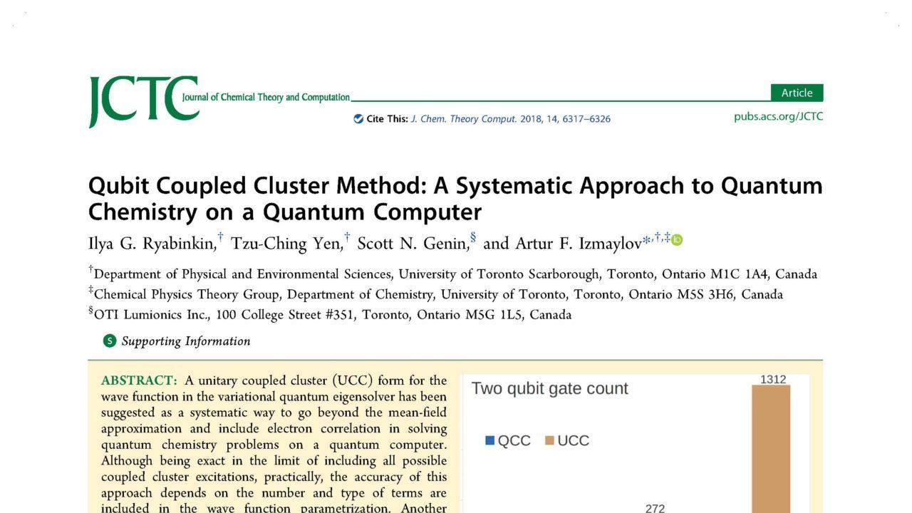 Qubit coupled cluster method