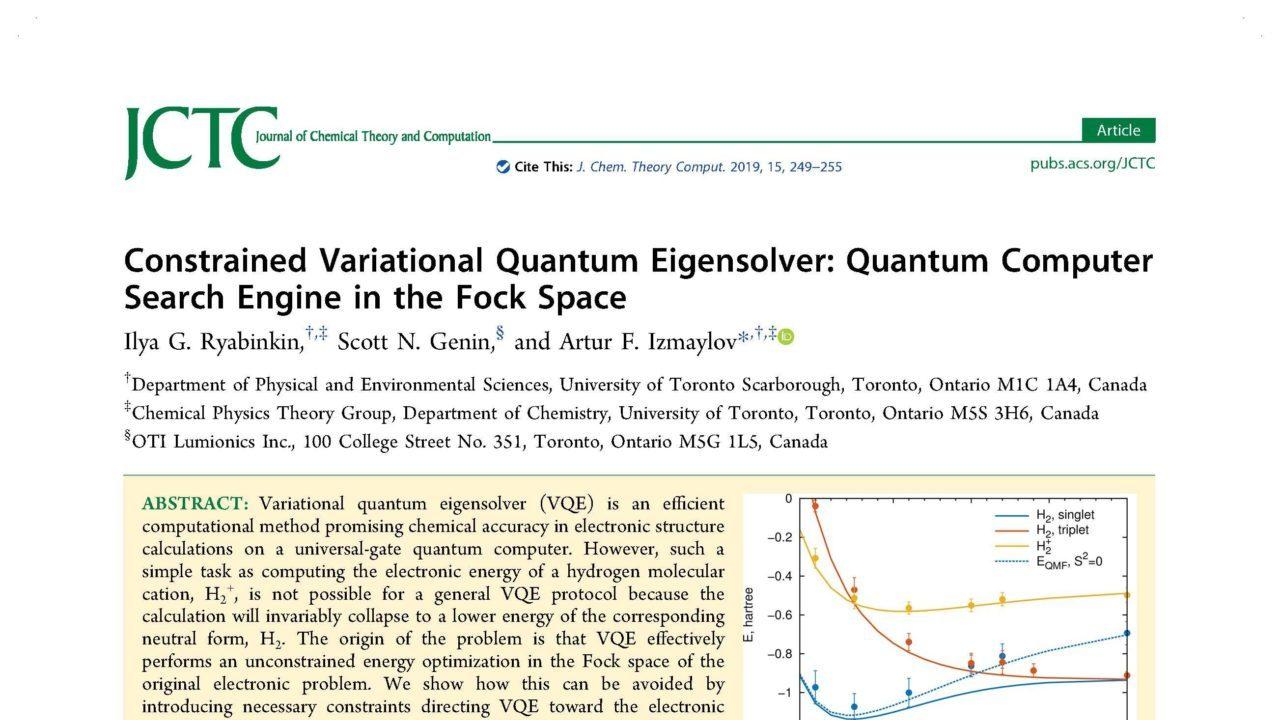 Constrained variational quantum eigensolver