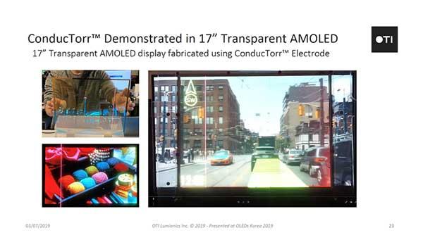 OTI Lumionics talk at 2019 OLED Korea
