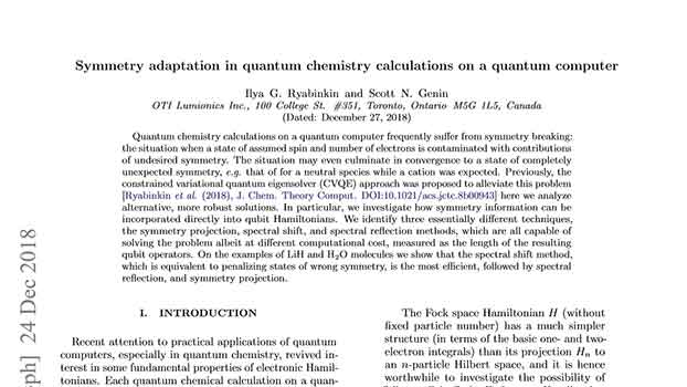 Symmetry adaptation in quantum chemistry calculations on a quantum computer
