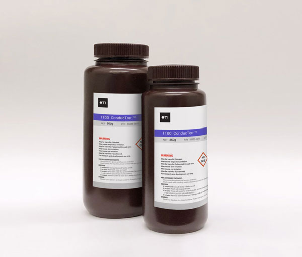 Bottles of ConducTorr™ materials from OTI Lumionics