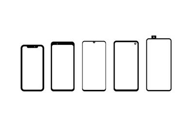 cellphone with different display notches