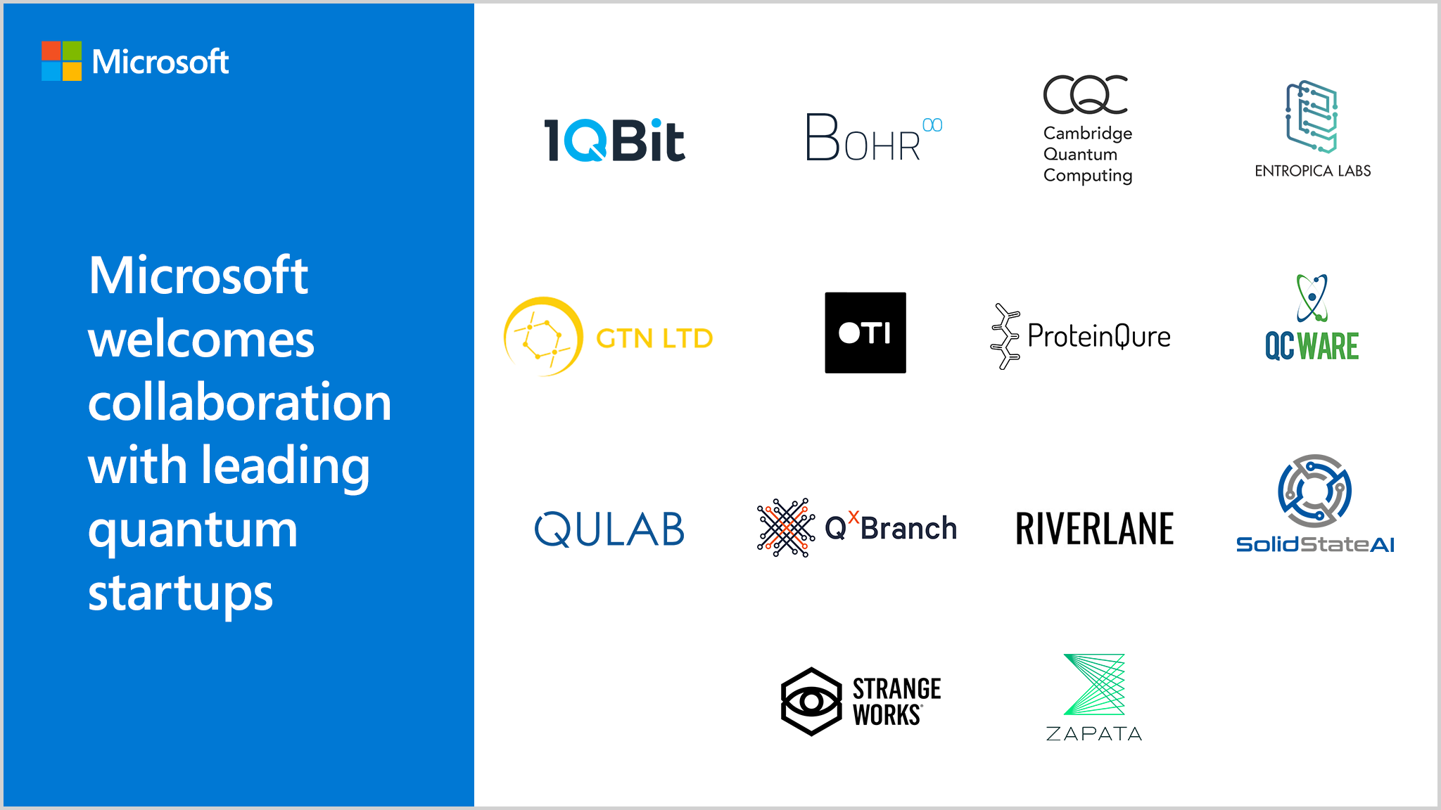 Leading startups collaborating with Microsoft Quantum